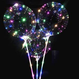 Globos con luces led y mango .