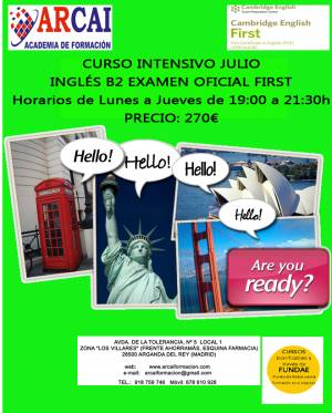 CURSO INTENSIVO JULIO 2018 INGLÉS B2 (FIRST)