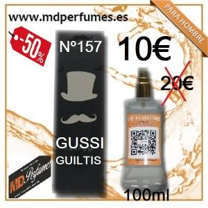 Perfume Hombre Nº157 Gussi Guiltis Equivalente